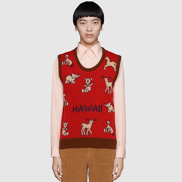best selling HAWALL Vest Sweater mens women Sweatshirts Pullover Short Sleeve Shirts Autumn Spring Winter clothing embroidery letter deer Sweaters M-3XL