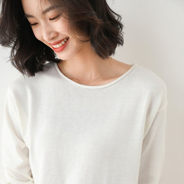 Collar rotonda Bianco