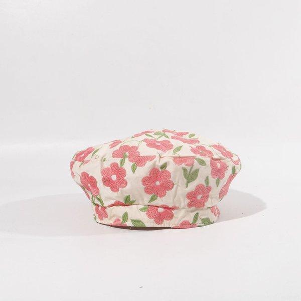 Große Blumen-Beret-rosa Blume
