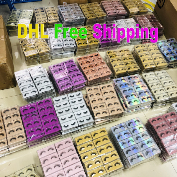 top popular 3D mink eyelashes wholesale 30 style natural long 3d mink lashes hand made false eyelashes full strip lashes makeup false eyelash In Bulk 2021