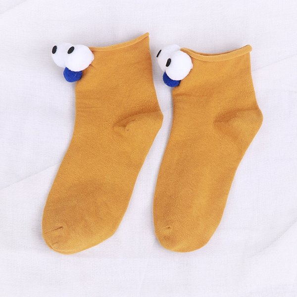 Yellow Big Eye Socks