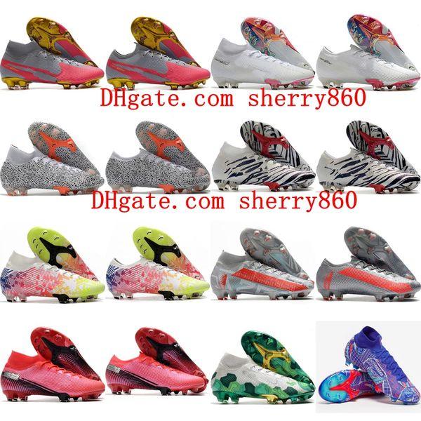 best selling 2020 mens boys soccer shoes Mercurial Superfly 7 Elite 13 FG soccer cleats women children football boots CR7 Neymar size 35-45