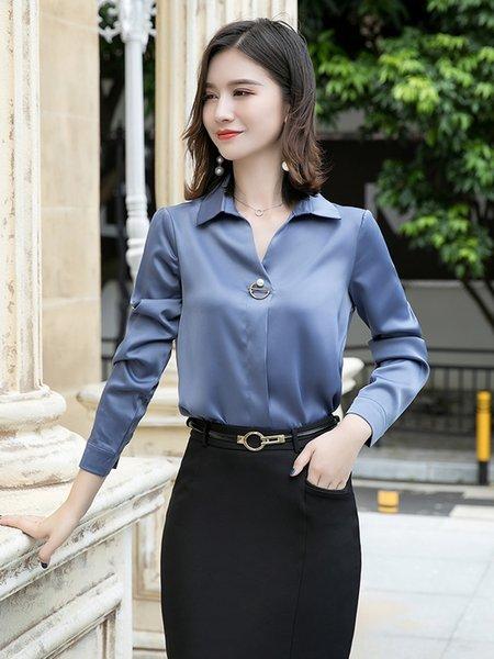 Рубашка Single Серый с длинным рукавом