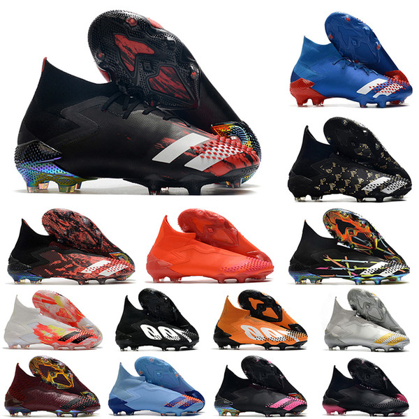 best selling 2020 top quality mens soccer shoes Predator Mutator 20+ FG soccer cleats predator 20.1 high football boots outdoor scarpe calcio Trainers
