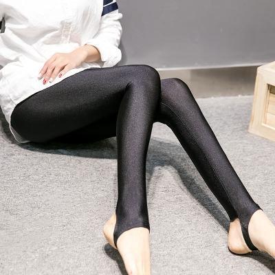 Pantalones brillantes del pie Estilo Stepping