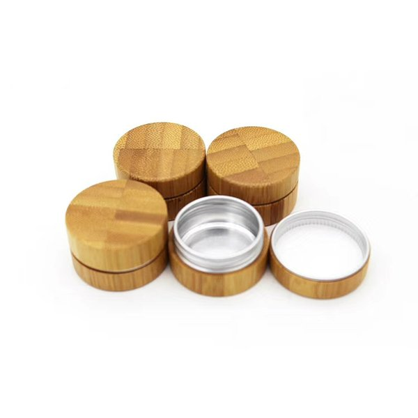 10g-50pcs bamboo cosmetic jar Wood