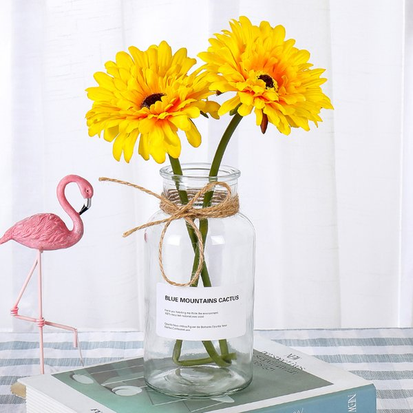 Artificial Flowers Branch Gerbera Paper Flowers Low Price Thanksgiving Home Decorating Artificial Flowers Lace Decorative
