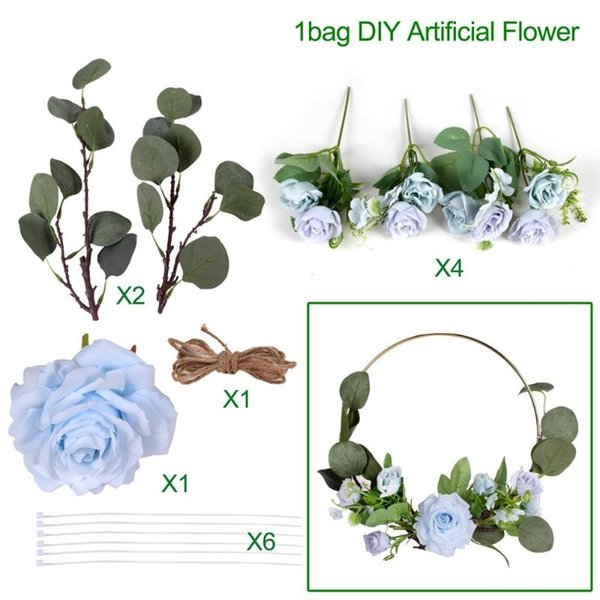 Blue DIY flower