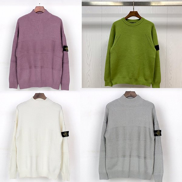 top popular NEW Autumn Sweaters Men's Winter sweater Fashion Long Sleeve Letter Print Couple Winter Black Sweaters Loose Pullover Designers Sweaters 2020