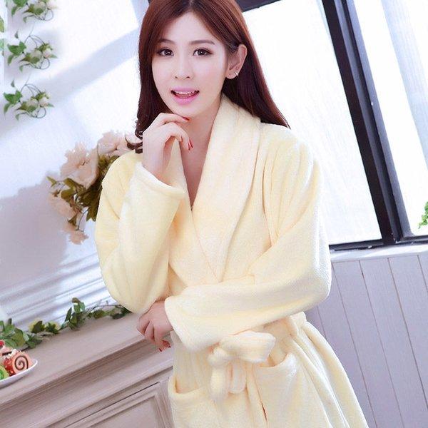 Сплошной цвет желто-женщин # 039, S Robe