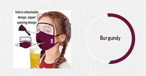 Burgund / Zipper Abnehmbarer