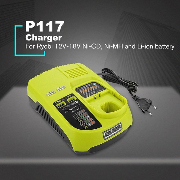 top popular 12V-18V Lithium Ion NiCad Ni-CD   Ni-MH Universal Rechargeable Battery Charger Pack Power Tool For Ryobi One+ P117 EU US AU UK b3xo# 2021