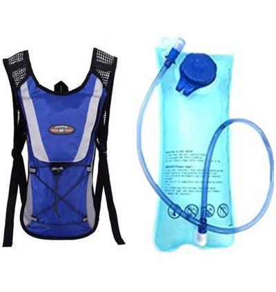 Blue backpack + water bag