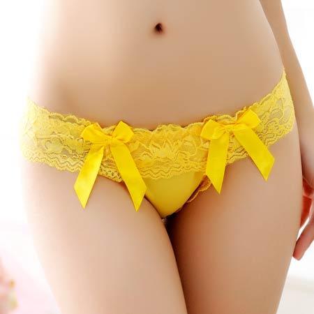 yellow thong 6043