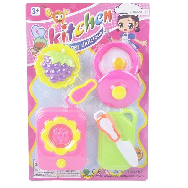 top popular plastic 4 set zhishijie educational toys cooking game mini plastic kitchen toy set for 6 year olds 2021