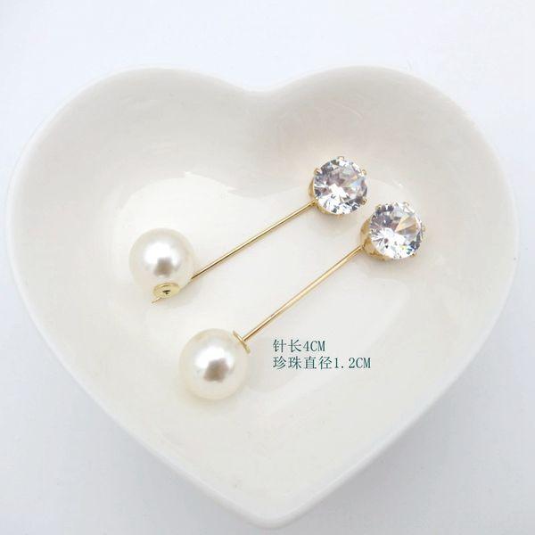 6 # rotonda diamante Ago Lunghezza 4 centimetri + 12 millimetri