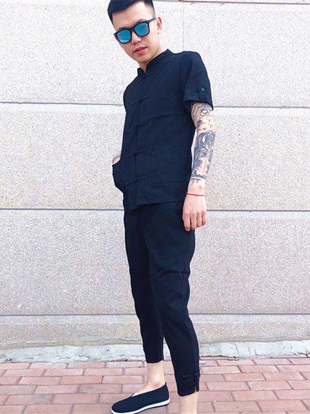 Costume noir Sans Vest