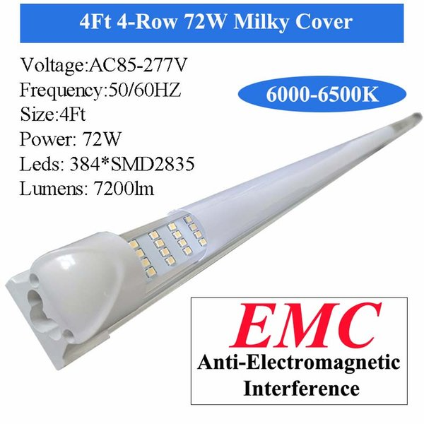 Milky крышка 4FT 72W LED Tube
