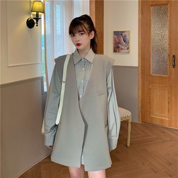 Gray Vest Single Piece