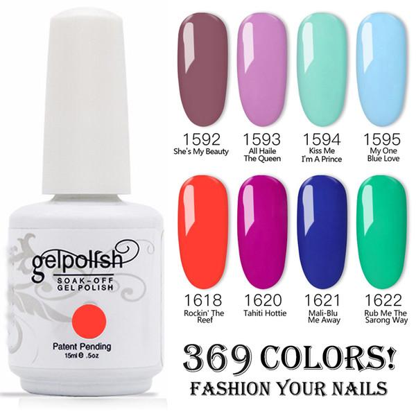 top popular 100% Brand New Gel Nail Polish Soak Off Nail Gel 403Colors 15ml 1000Pcs lot 15ML Factory Wholesale 2021