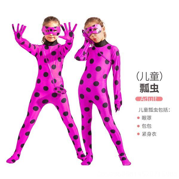 Crianças # 039; s Rose Red Ladybug Roupa + E