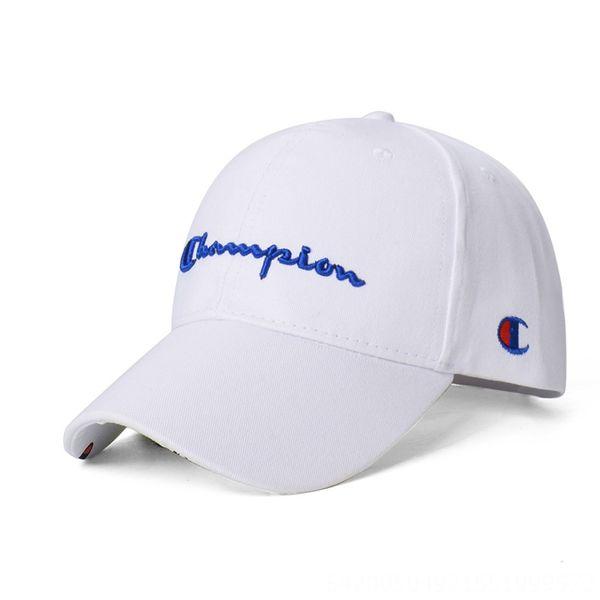 Белый Hat Синего Письмо Боковая Вышивание-Ad