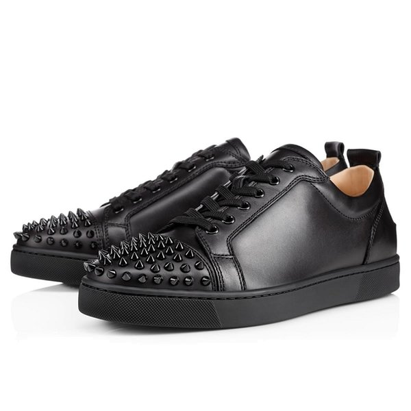 # 4 Low Nero Spike Leather