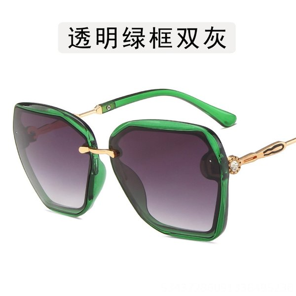 Transparent Green Frame Double Gray-As S