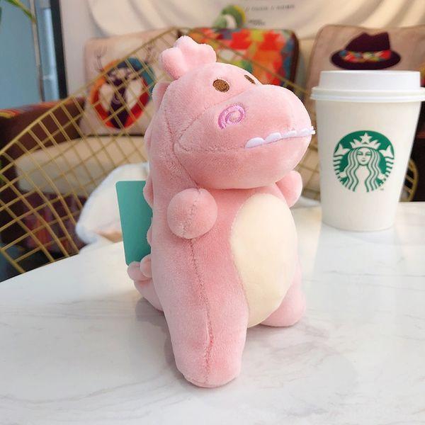 Plush Dinosaur-13 centímetros Pink-Opp saco Packagi