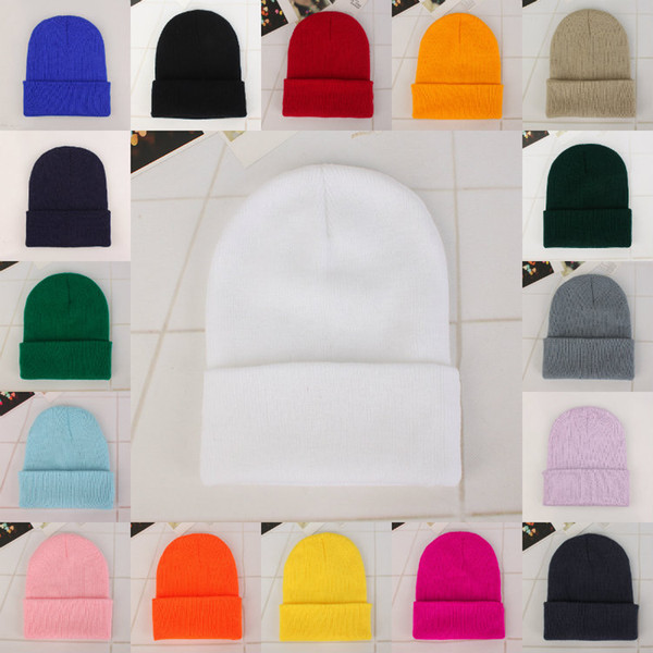 top popular Fashion 100pcs 24style Men's and women's winter warm knitted hat pure color classic Pullover hat outdoor fashion knitted hip-hop hat ZJ00100 2021