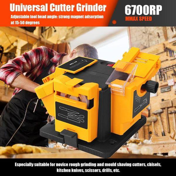 best selling 96W Grinder 3 In1 Multifunction Knife Sharpener Machine Set US EU Household Electric Grinding Sharpener for Scissor Drill 220V