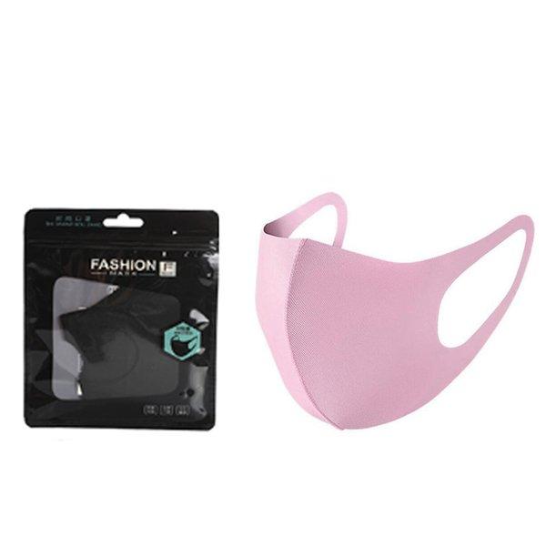 아무 로고 핑크 성인 마스크