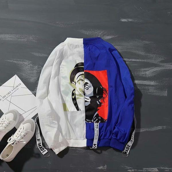 Palhaço branco e azul