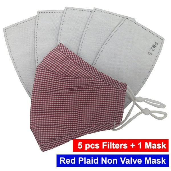Plaid rosso Wihout Valve