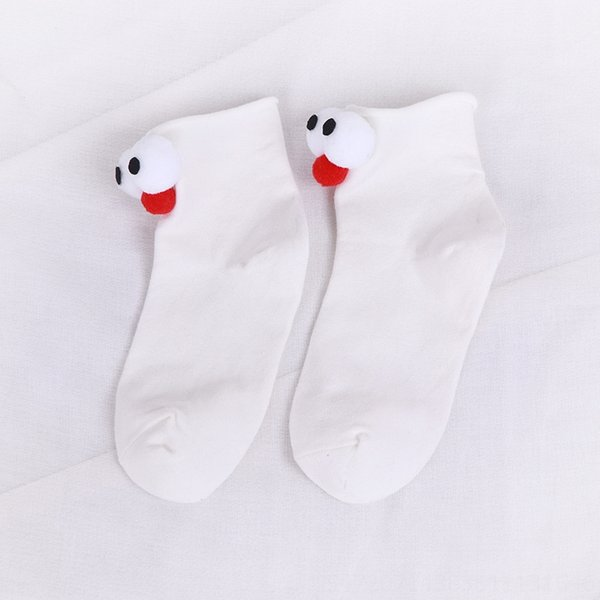 White Big Eye Socks