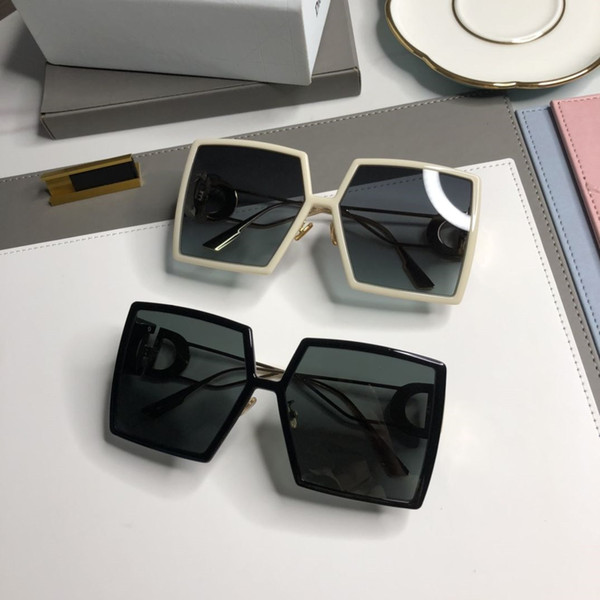 best selling Fashion Summer Beach Sunglasses Woman Overszie Goggle Sunglasses for Man Woman UV400 Top Quality with Gift BOX