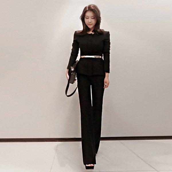 Черный (двухсекционный костюм)