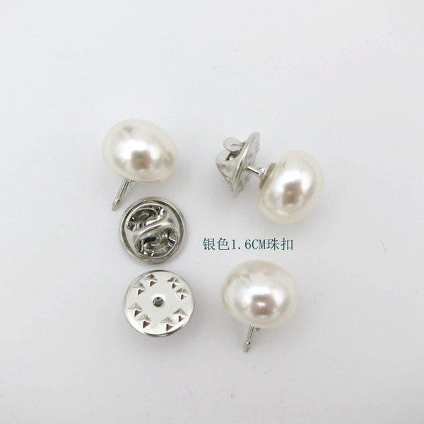 Bead Fibbia 18 # argento 1,6 centimetri