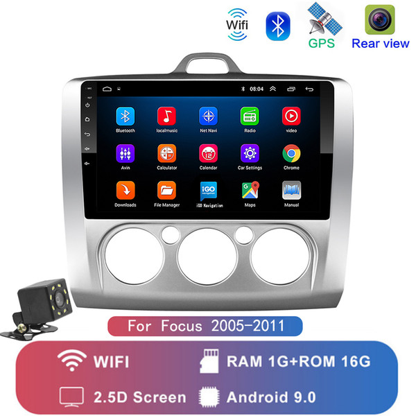 best selling 9 inch Android 9.1 Car Radio Bluetooth Stereo For ford focus EXI MT 2 3 Mk2 2004 2005 2006 2007 -2011 2Din GPS Multimedia Player