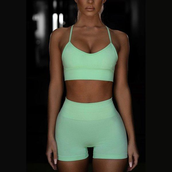 Frucht grün Anzug Yj032 Vest + Shorts