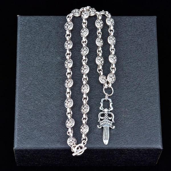 best selling Luxury Titanium Steel Ornament Cross Creative Pendant Necklace Fashion Men and Women Short Sweater Chain