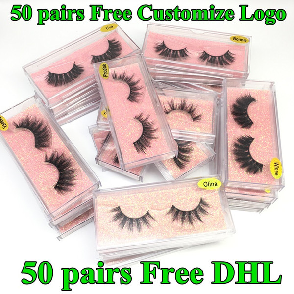 top popular 3D Mink Eyelashes Faux Natural False Eyelashes 3D Mink Lashes Soft make up Extension Makeup Fake Eye Lashes 3D Eyelash Free Customize Logo 2020