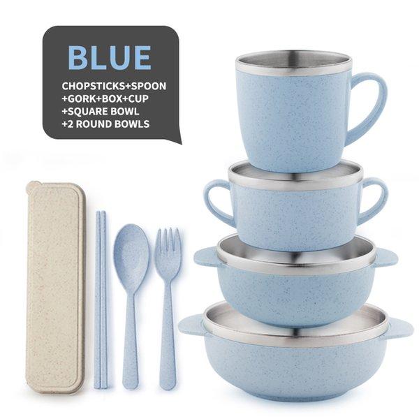 8 piezas azul