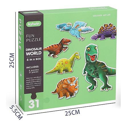 6-in-1 Dinosaur World Puzzles