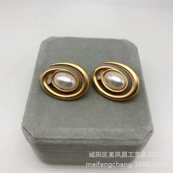 Spirale d'or mat Clip à oreille