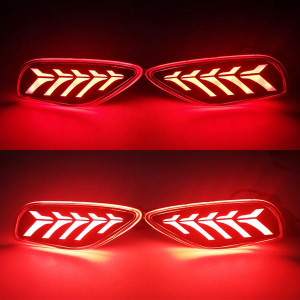 best selling 1 Pair LED Reflector Car Tail Light Rear Bumper Light Rear Fog Lamp Brake Light For Kia Seltos 2019 2020 2021