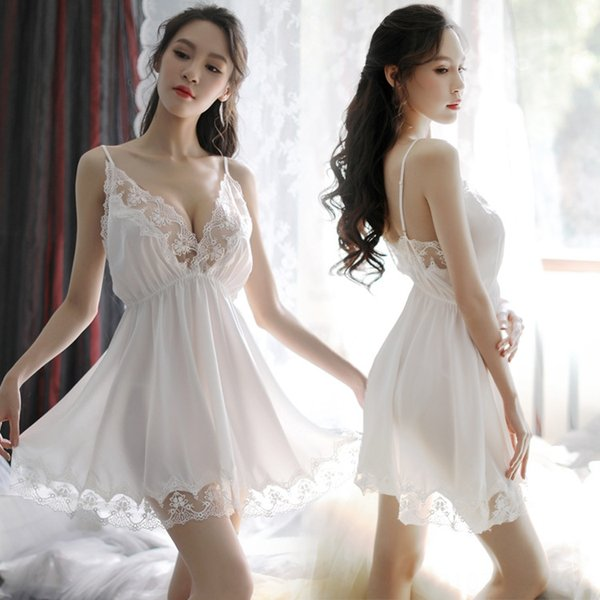 Bianco Se ≤ Camicia da notte-One Size