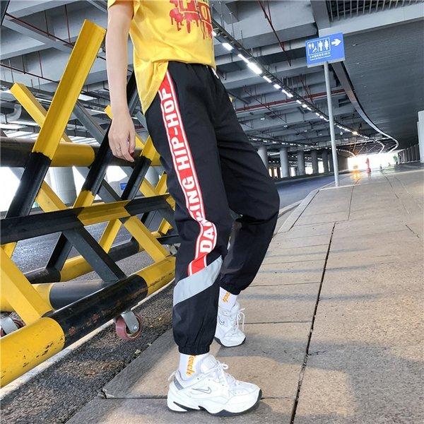 8820 Siyah Ve Kırmızı Pantolon
