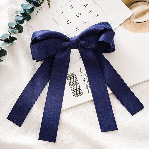 Navy Blue nappa Hairclip
