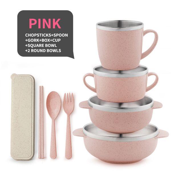 8 piezas de color rosa